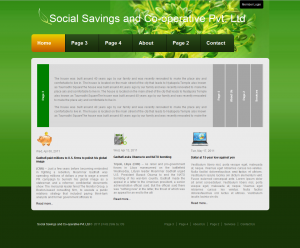 Corporate Website Sample Page